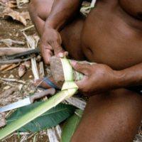 Man Weaving Palm Leaves - 01