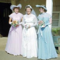 Wedding party, Pearl Harbor. 21 June 1951