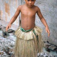 Boy in Grass Skirt