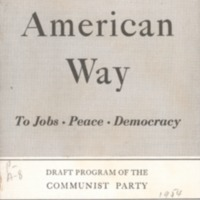American way to jobs, peace, democracy: draft program…