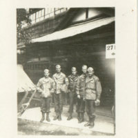 Five soldiers standling together in Aizuwakamatsu,…