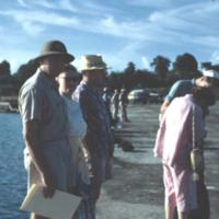 W. Shepard, Cecilia & Harry Wahl. Koror. Nov. 1950