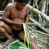 Man Weaving Palm Leaves - 09