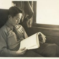 Kaizawa box 13-014: Freddie Yoshida reading on the…