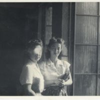 Kaizawa 2-105: Two Japanese women in Western clothing…