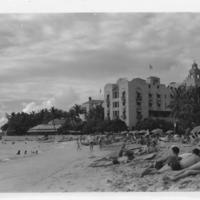 Royal Hawaiian Hotel from Waikiki Beach
