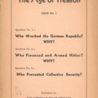 Age of treason: Who wrecked the German Republic? Why?:…