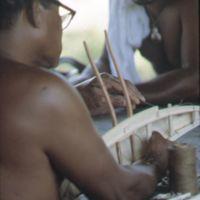 Mau Piailug making model canoe - 018