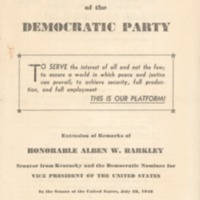 1948 Platform of the Democratic Party