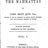 History of the Mahrattas (Vol. I)
