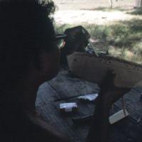 Mau Piailug making model canoe - 005