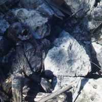 Charred corpse near Buckner Memorial