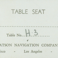 [130] Table Seat Ticket