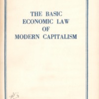 Basic economic law of modern capitalism.