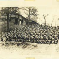 A group photo of American soldiers, Japan