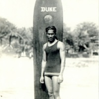 [A portrait of Duke Kahanamoku]