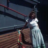June Beckler. USS Randall Guam. 7 Oct. 1949