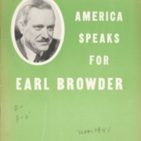 America Speaks for Earl Browder
