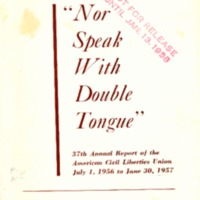 "Justice for all: ""Nor speak with double tongue."""