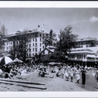 Waikiki Beach and Moana Hotel (?)