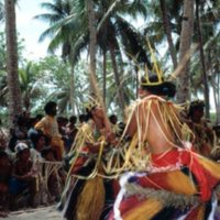 Young women dancing at Outer Islands High School (OIHS)…