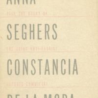 Anna Seghers, Constancia de la Mora tell the story of…