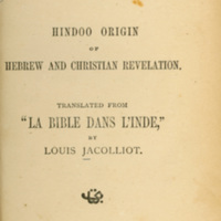 Bible in India: Hindoo Origin of Hebrew and Christian…