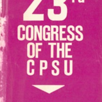 23rd Congress of the Communist Party of the Soviet…