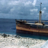 Santa Maru, Japanese ship trans. phosphate. Conveyor…