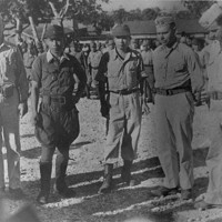 Captain Oda with unidentified Japanese officer and U.S.…