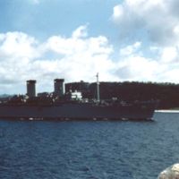 Apra Harbor. Guam. 1 Jan. 1950