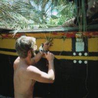 Steve Thomas Rigging a Canoe - 1