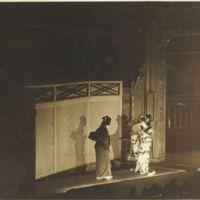 Kaizawa box 13-008: Two kabuki actors performing on the…