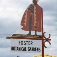 Foster Botanical Gardens sign