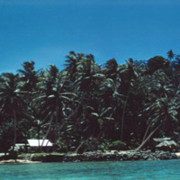 Dock area, Falo Island. Truk Atoll. July 1950