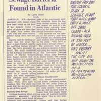 Sewage bacteria found in Atlantic