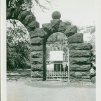 "[103] Woman Behind ""Private"" Sign on Gate in Arched…"