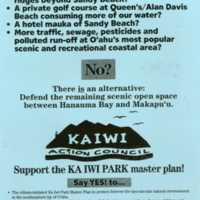 Support the Kaiwi Park master plan!