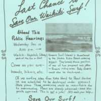Last chance to save our Waikiki surf!