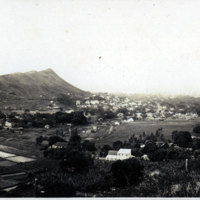 Fields and Diamond Head in background