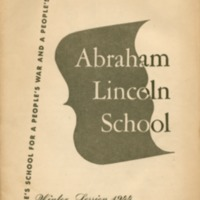 Abraham Lincoln School: Winter session 1944.