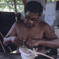 Mau Piailug making model canoe - 014