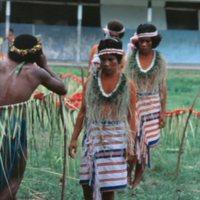 1983 Satawal Elementary School graduates marching…