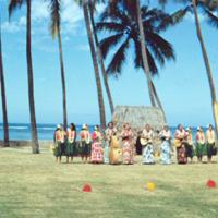 Entire group, Hula Show. Honolulu. 18 Mar. 1954