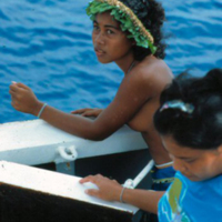 Young woman aboard Micro Spirit