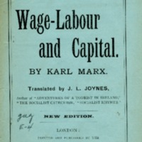 Wage-labour and capital.