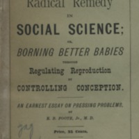 Radical remedy in social science; or borning better…