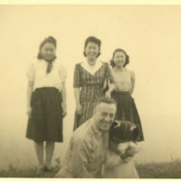 Maj. Arrowood with Helen, Mrs. Shimada, Mrs. Shimada's…