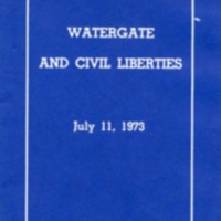 Watergate and civil liberties.