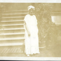 Woman Standing in Front of Steps
